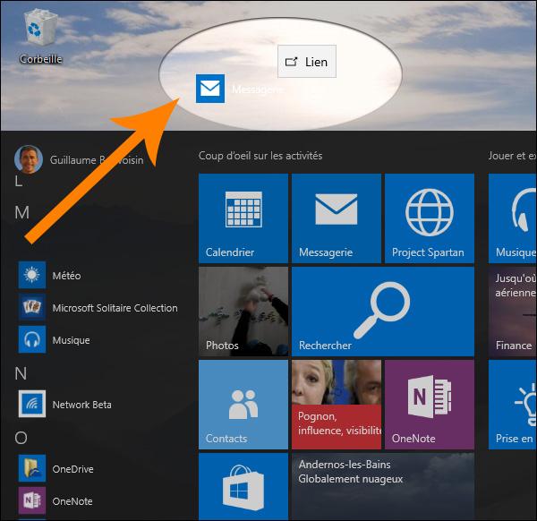 accéder panneau de configuration windows 10